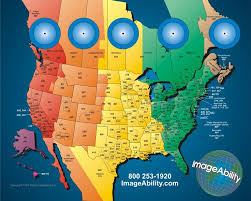us map divided by time zones click on map to learn about best times to call in usa with all