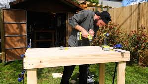 Simple Wooden Bench Design Plans by How To Build A Simple Cheap Work Bench Youtube