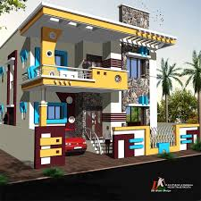 single house designs single yellow color house design