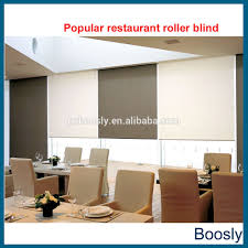 motorized roll up blinds made of 100 sunproof roller blind fabric