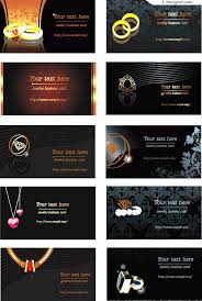 4 designer jewelry theme business card template vector material