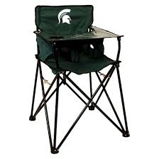 Portable Baby High Chair Ciao Baby Michigan State Spartans Portable High Chair In Green