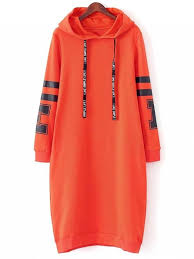 orange dress graphic hoodie dress orange casual dresses s zaful