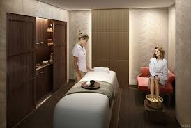 Day Spa Design Ideas Spa Room Chair In The Corner Instead Of Shelving And A Bench