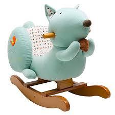 siege a bascule bebe labebe jouet de premier age de écureuil à bascule douce