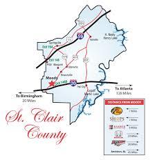 Map Alabama Map Of St Clair County Alabama