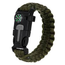 survival bracelet with whistle buckle images Survival paracord bracelet w whistle flint army green black jpg