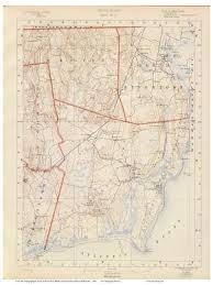 Map Rhode Island Old Rhode Island Usgs Maps 1891 Walker Atlas