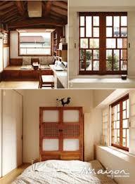 Korea Style Interior Design Lattice Doors On A Traditional Korean Home In Seokpajeong Which