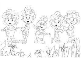 draw fifi flowertots friends coloring pages