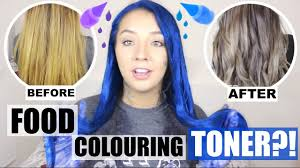 food colouring hair toner does it work thoserosiedays youtube