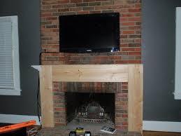 image of diy fireplace mantel shelf plans