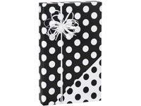 black and white wrapping paper black white reversible polka dot gift wrap wrapping
