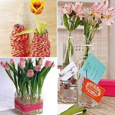 How To Decorate Flower Vase 3 Ideas For Diy Recycling Glass Vases And Flower Arrangements