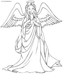 coloring page angel visits joseph angel gabriel coloring page yuga me