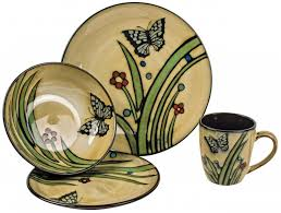 country style 32 dinner service crockery set mulberry moon