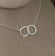 circle necklace silver sterling images Hammered interlocking circles necklace in sterling silver jpg