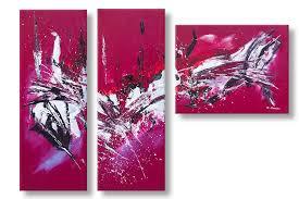 Tableau Abstrait Rouge Et Gris by Tableaux Bordeaux Gris Modernes Triptyque Abstrait Nouvelle