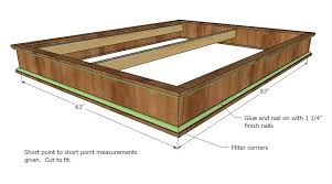 Build Wood Platform Bed by Ana White Chestwick Platform Bed Queen Size Diy Projects
