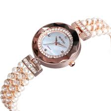 ladies pearl bracelet watches images W4790 rose gold dubai fashion luxury chain lady pearl watches jpg