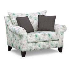 Chair And A Half Recliner White Green Floral Chair With Short Recliner Also Arm Rest