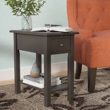 chairside table with charging station charging station end table wayfair ca
