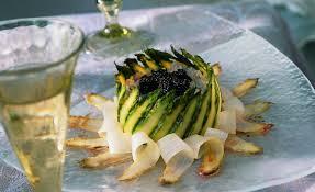 caviar recettes cuisine recette de chartreuse d asperges et sa rillettes d araignée de mer