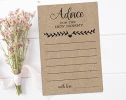 to be cards baby girl shower advice cards printable advice for the