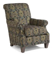 Wooden Accent Chair Flexsteel Stafford Traditional Styled Accent Chair With Rolled