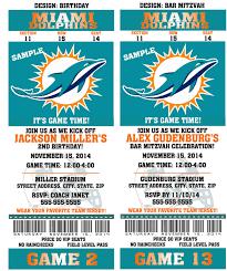 Wedding Invitations Miami Printable Birthday Party Invitation Card Miami Dolphins