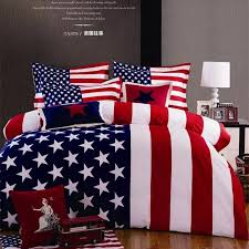 4pcs bedding set 200x230cm kind queen stars stripes print american flag cotton duvet comforter cover sheet bedclothes bed linen in bedding sets from home