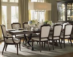Transitional Dining Rooms Kensington Place Eleven Piece Dining Set With Chairs Upholstered