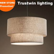 cylindrical ceiling light fixture with flax fabric canvas linen ligen shade round cylindroid light