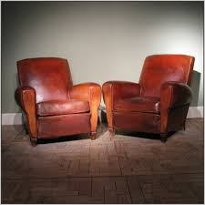 Vintage Leather Club Chair Vintage French Leather Club Chairs Chairs Home Decorating
