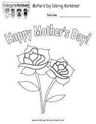 kindergarten mother u0027s day coloring worksheet printable http www