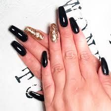 try fantastic black acrylic nails naildesignsjournal com