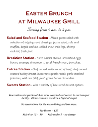 join us for easter brunch 2016 on march 27 milwaukee grill