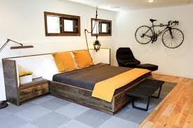 Reclaimed Wood Bed Frame Elise Reclaimed Wood Bed With Upholstered Headboard And