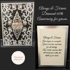 60th Wedding Anniversary Greetings Diamond 60th Wedding Anniversary Card For Wife Www