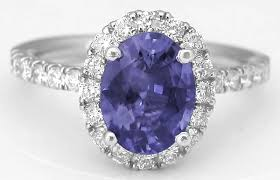 chagne engagement ring color change sapphire and halo engagement ring in 14k