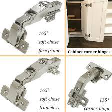 corner kitchen cabinet hinges 1 pair 2pcs european style concealed 165 degree