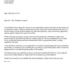 cover letter for construction worker sample sample resume