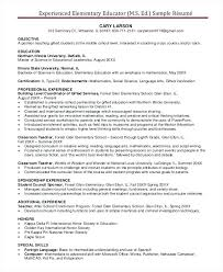 Resume Templates Free Word Document Elementary Teacher Resume Sample Elementary Teacher Resume