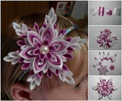 ribbon flowers diy ribbon flower snowflakes usefuldiy