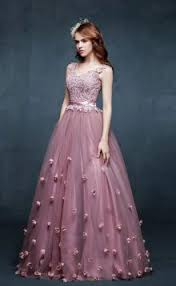 Evening Gowns Flower Evening Dresses U0026 Gowns Groupdress Com