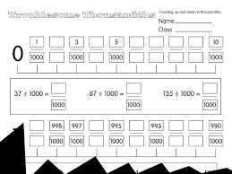 troublesome thousands a year 5 decimals u0026 fractions worksheet