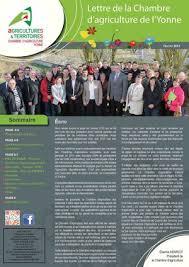 chambre d agriculture de l yonne calaméo lettre chambre février 2014