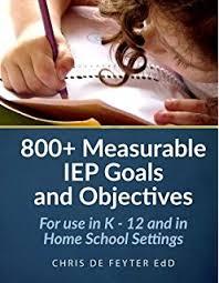 writing measurable iep goals and objectives barbara d bateman