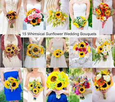 sunflower wedding bouquet roundup 15 whimsical sunflower wedding bouquets