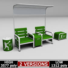 tennis court bench chair low poly 3d model low poly max obj 3ds fbx mtl